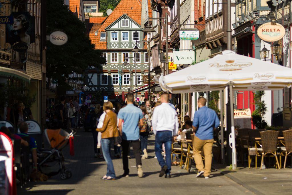 Blick in die Lange Straße Hann. Münden