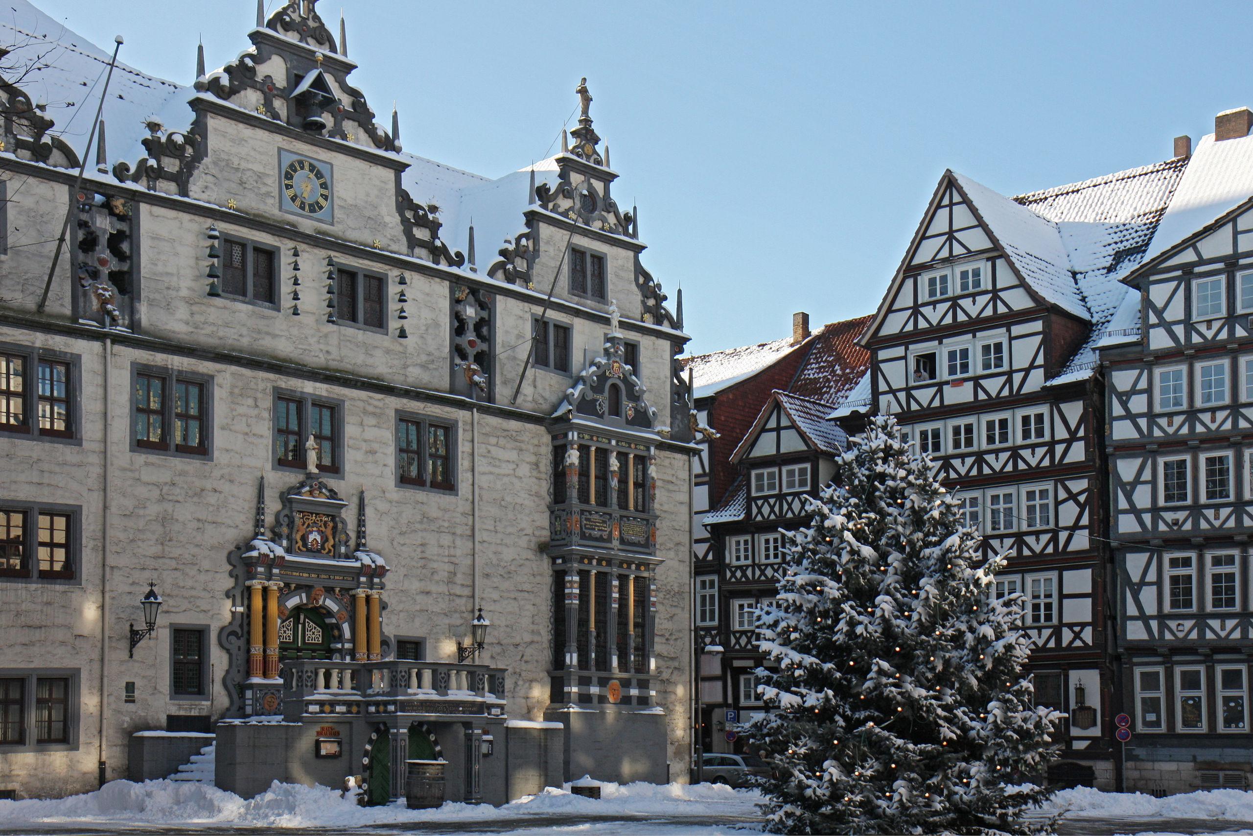Rathaus Hann. Münden im Winter